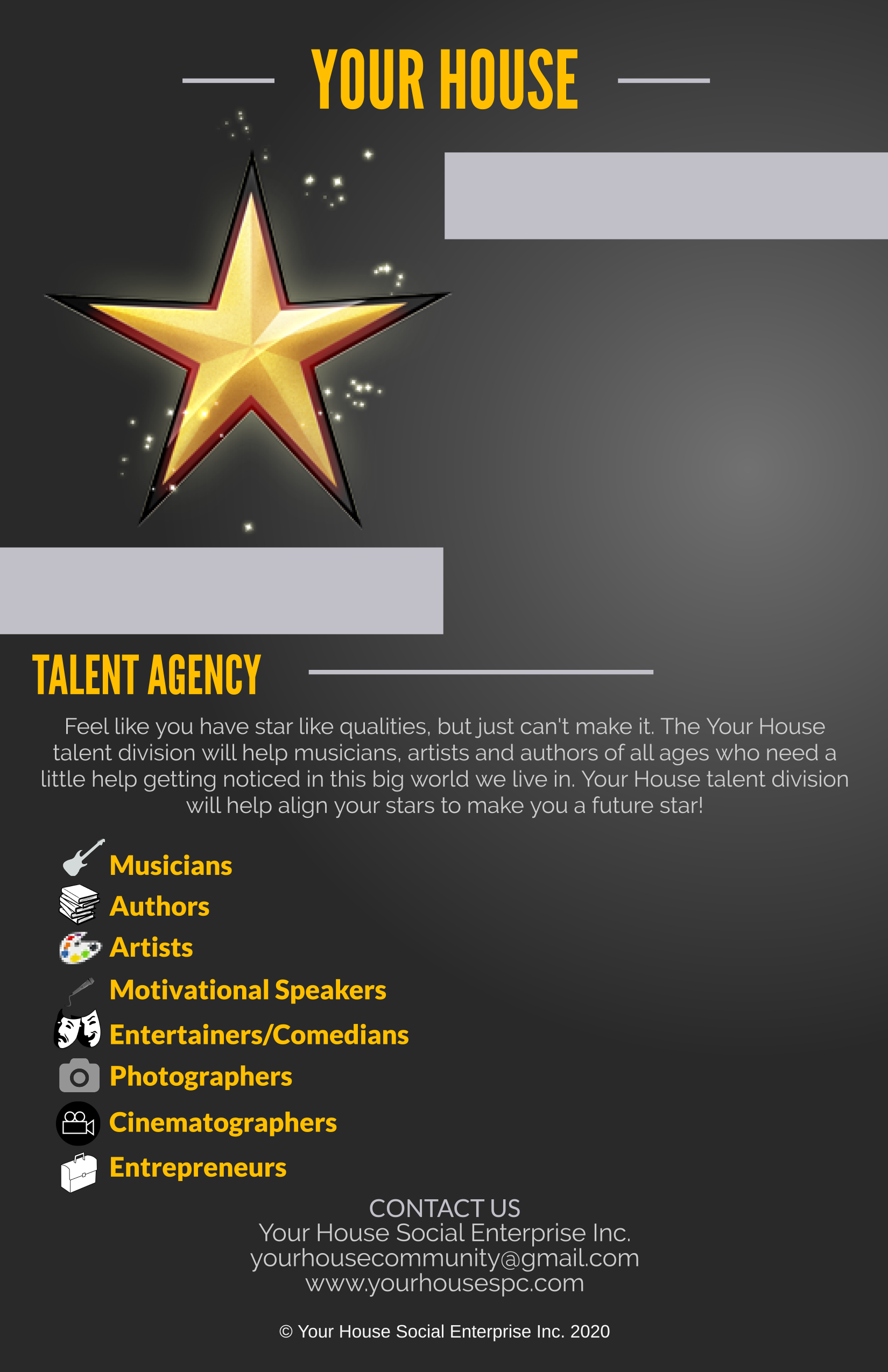 YOUR HOUSE TALENT AGENCY